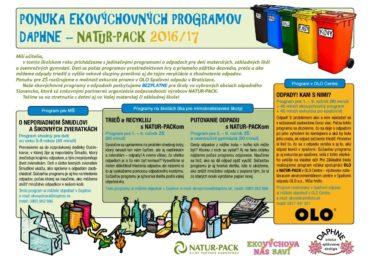 Nové ekovýchovné programy o odpadoch