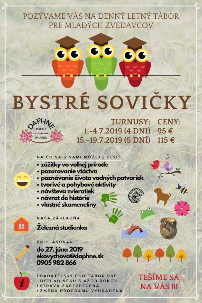 detský letný ekotábor Bystré sovičky - Daphne